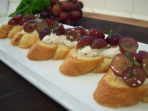Minted Grape Crostini