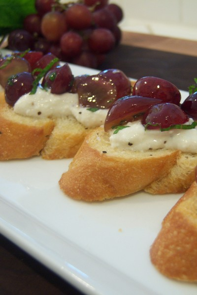 Minted Grape Crostini