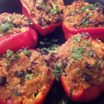 ChefEvelyn.com quinoa stuffed bell peppers